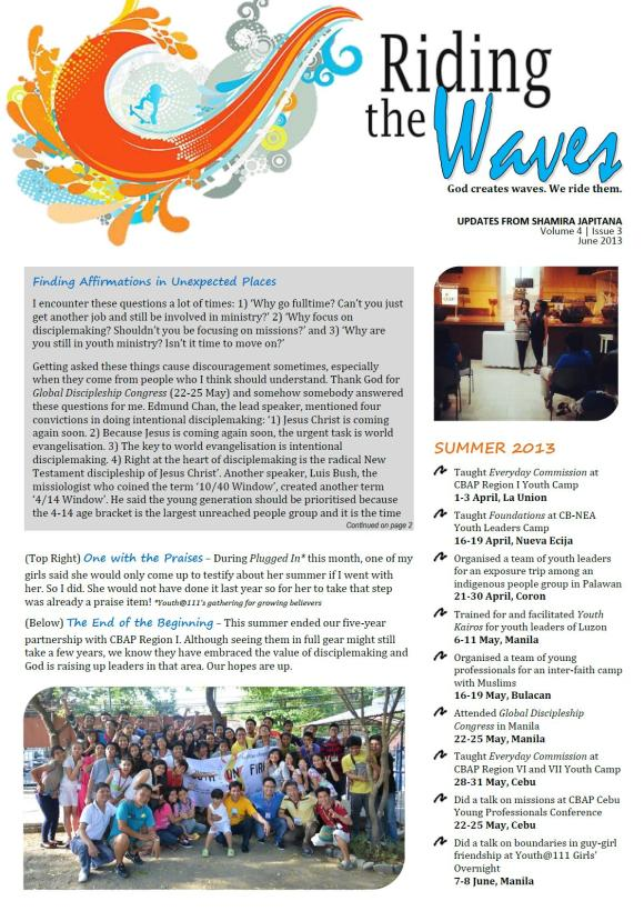 Riding the Waves - June 2013 (pg1)